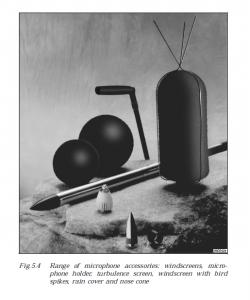 Microphone Kinetic Pressure Suppression (wind screen).
