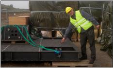 Claes Fredö at Qring Technology International AB shows a high performance vibration isolation setup at MaxLAB IV.